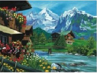 Painting by Number Mountain Chalets