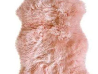 Sheepskin Area Rug in Blush