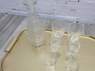 Various Drinking Glasses and Decanter