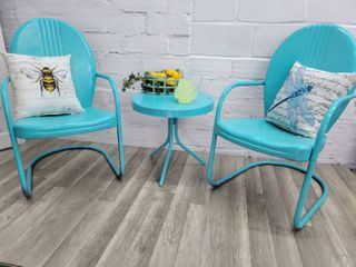 Metal Porch Chairs and Table