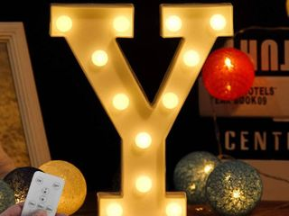 light up letter Y
