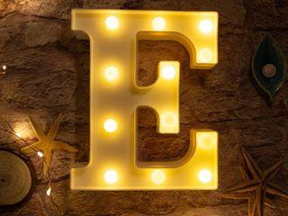 light up letter E