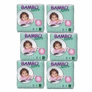 Abena Bambo Nature Premium Baby Diapers  Xl  Size 6  22 Count  Pack of 6
