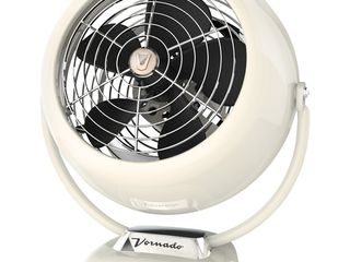 Vornado VFAN Vintage Whole Room Air Circulator Fan Vintage White
