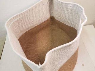 Home Decor  Storage Bag with Handles  Eggshell   Tan