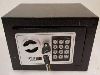 Tuffiom Mini Safe Solid Steel with 4 batteries  2 keys