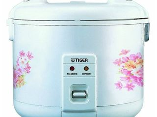 Tiger JNP 1000 Electric 5 5 Cup  Uncooked  Rice Cooker and Warmer