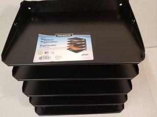 Steelmaster Horizontal Organizer  5 letter tray black