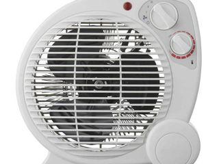1500 Watt Electric Fan Forced Portable Heater  White