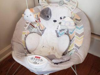 Puppy Theme Bouncey Seat  Gray   White