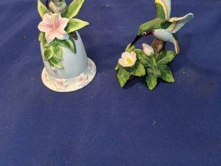hummingbird bell and figurine