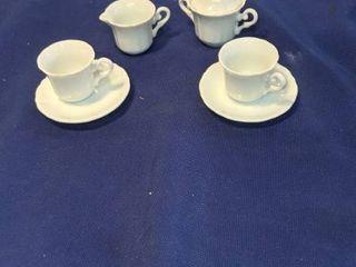 six piece tea set