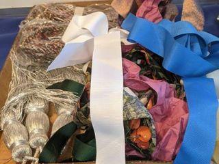 tie backs and ribbon