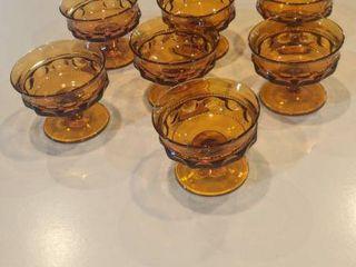 7 Amber fruit bowls