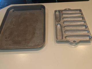 bacon pan and cornmeal pan