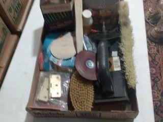 mixed box of garage items