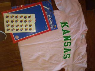 KU items including medium Kansas t shirt