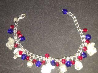KU sports charm bracelet