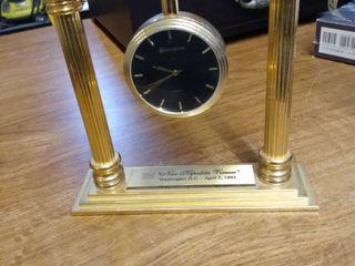 very heavy benchmark quartz clock not running has saying  New Hepatitis Viruses  Washington DC April 7th 1995 not running