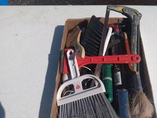 flat of garage items