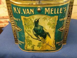 vintage N V  Van Melle s Toffees Tin 9 1 2  x 8 1 2  10
