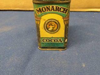 Vintage Monarch COCO Tin 1 1 2  x 1 1 2  x 3