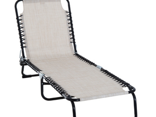 Reclining Beach Chair Chaise lounge Folding Chair with Comfort