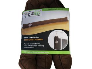 Evelots 36  Snowflake Door Draft Stopper W  Over the Door Hanger  Brown