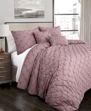 Ravello Pintuck Comforter Woodrose 5Pc Set King