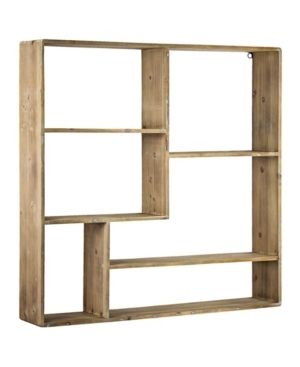Rustic Wood Multi Unit Hanging Wall Shelf  Retail 180 99