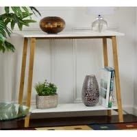 Carson Carrington Kakarberg 2 Tier Solid Bamboo Frame Console Table NO HARDWARE