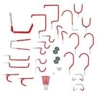 Stalwart 30 piece Hang it Yourself Home Organization   Red