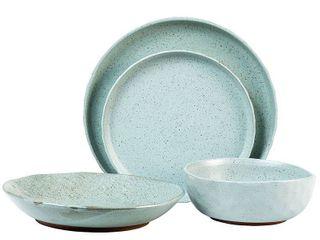 16pc Stoneware Kaya Dinnerware Set Blue   Sango