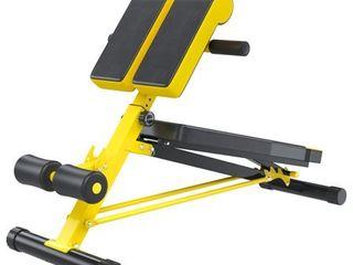 Soozier Folding Black and Orange Steel Adjustable Hyper Extension Bench Multi function Workout Press  Retail 113 99