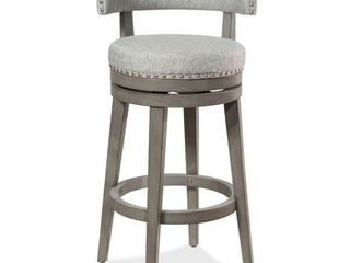 The Gray Barn Pond Road 360 Degree Swivel Wood Stool  Antique Gray   Antique Gray   Ash   Bar Height   29 32 in  retail    229 99