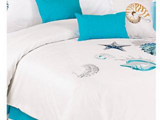 Panama Jack Shells 7 Piece King Comforter Set   110 in  x 96 in   335 99 Retail