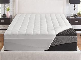 Slumber solutions Active 2 5 inch Big Bump Charcoal Memory Foam with 1 5 inch fiber cover  retail  75 99