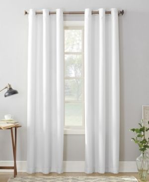 Set of 3 108 x48  Montego Casual Textured Grommet Curtain Panel White   No  918