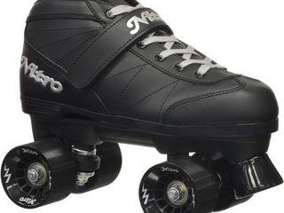 Size 7 Epic Super Nitro Black Quad Speed Roller Skates