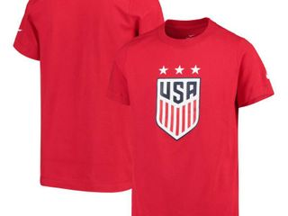 Xl USWNT Nike Youth Crest T Shirt   Red