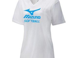 mizuno women s Xl v neck softball t shirt