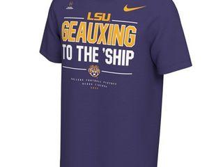 lSU Tigers Nike College Football Playoff 2020 National Championship Bound T Shirt   Purple