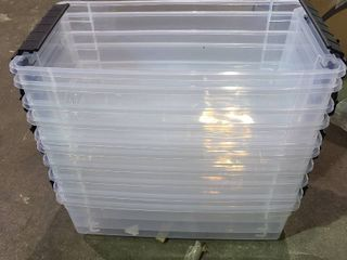 Stack and Pull Box and lids 10 Boxes and 7 lids Shoebox size