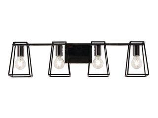 AFX lynn 6 25 in  4 light Black Vanity light