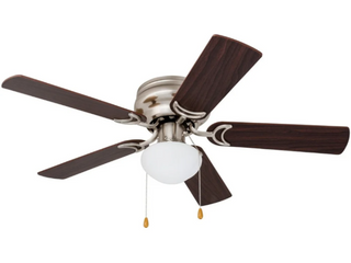 Prominence Home Alvina 42 inch Brushed Nickel Ceiling Fan