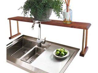 Home Basics Pine Over Sink Shelf