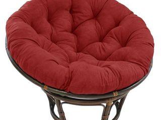 Cardinal Red  Blazing Needles 44 inch Microsuede Papasan Cushion