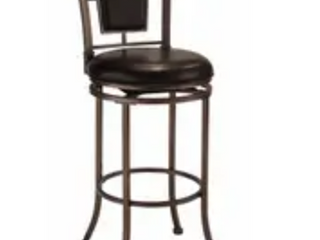 Auckland Oyster Stone  Black Metal Stool