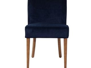 As Is  Broken leg   See Pictures  Seville Dining Chair in Navy Blue Velvet