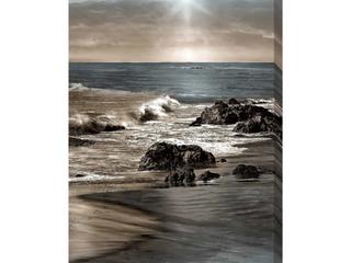 Blue Sea Sunset II by Mike Calascibetta Print on Canvas   Blue   24  w x 40  h x 1 5